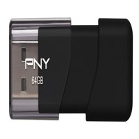 PNY Attache 64GB USB 2.0 Flash Drive - P-FD64GATT03-GE