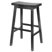 "Winsome Wood Satori Saddle Seat Stool 29"", Black"