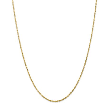 14kt Yellow Gold 2mm Link Rope Chain Necklace 18 Inch Pendant Charm Handmade Fine Jewelry Ideal Gifts For Women Gift Set From Heart