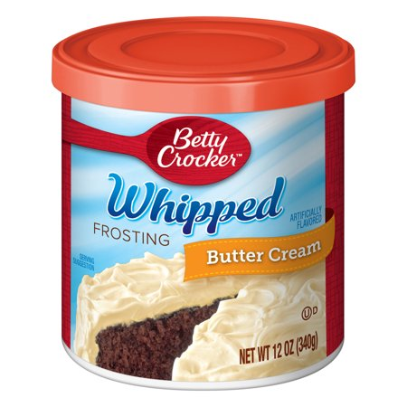 (12 Pack) Betty Crocker Whipped Butter Cream Frosting, 12 oz Easy Cream Cheese Frosting