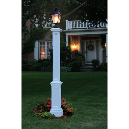 Signature Lamp Post White - w/Mount (Et La702 Lamp)