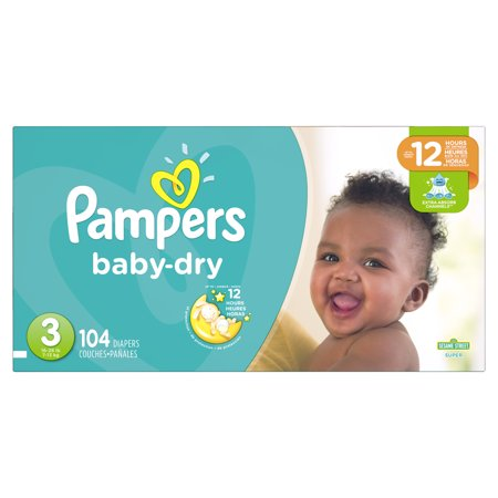 Pampers Baby-Dry Diapers Size 3 104 Count - Clearance Baby