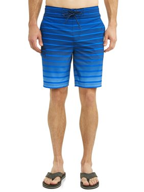 Men's Gradient Stripe Eboard Swim Short, up to size 5XL