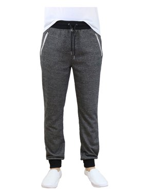Men's Slim-Fit French Terry Jogger Sweatpants With Zipper Pockets