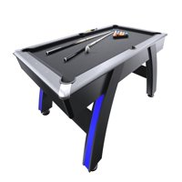 Atomic 7.5' Indiglo LED Lighted Billiard Table Includes 2 Billiard Cue, Ball Set, and Triangle
