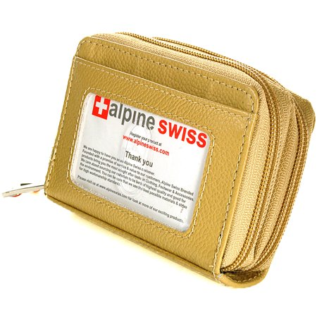 Bronze Womens Wallet - Alpine Swiss Womens Acordion Organizer Wallet Leather Credit Card Case Coin ID