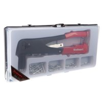Stalwart W550137 40-Piece Rivet Gun Set - Includes Heavy Duty Riveter Set with Rivets, Rivet Heads, Head Wrench and Carry Case (For Sheet Metal, DIY, Auto Work)
