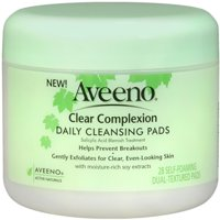 AVEENO Clear Complexion Daily Cleansing Pads 28 Each (Pack of 2)