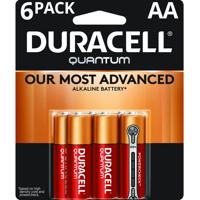Duracell 1.5V Quantum Alkaline AA Batteries with PowerCheck, 6 Pack