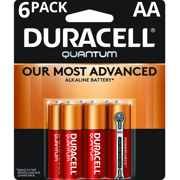 Duracell 1.5V Quantum Alkaline AA Batteries with PowerCheck 6 Pack