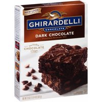 (3 Pack) Ghirardelli Dark Chocolate Brownie Mix, 20-Ounce Box