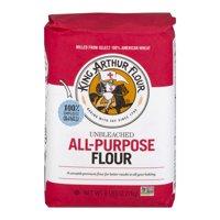 (2 Pack) King Arthur Flour Unbleached All-Purpose Flour 5 lb. Bag