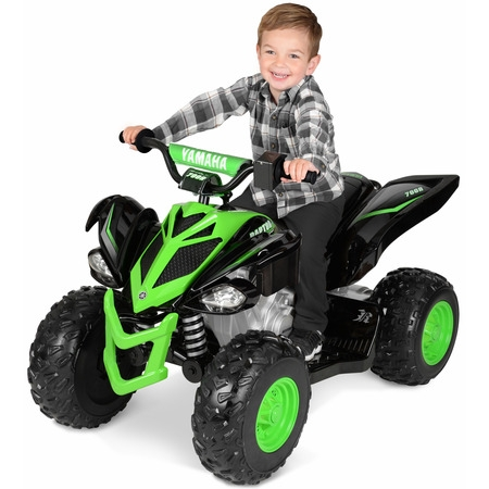 12 Volt Yamaha Raptor Battery Powered Ride-on Black/Green - NEW Custom Graphic Design!