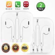 2-Pack OEM Quality Premium  Crisp Clear Sound Headset Headphones Earphones Earbuds With Remote & Mic For Apple iPhone 6S PLUS 6 5 5S 4S 4 3GS/iPad/iMac/iPod