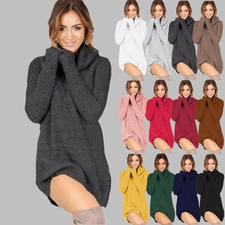 Womens Turtleneck Casual Botton Sweater Long Sleeve Button Tops Fashion New Casual Outwear Pullover