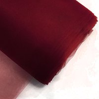 "Tulle Fabric Bolt 54""X40yds Wedding Bridal Party Favor Decoration Tutu Craft (Burgundy)"