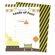 Construction Style 1 Happy Birthday Invitations Invite Cards 25 Count With Envelopes Seal