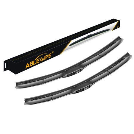 "ABLEWIPE Hybrid Wiper Blades J Hook for ACURA MDX 2007-2011 26""+ 21"" Windshield Wiper Blade durable and easy to install(Set of 2)"