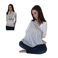 LK Baby Infinity Nursing Scarf Nursing Cover for Breastfeeding Privacy Stylish High Quality 100% Free of AZO and Harmful Chemicals Safe for Baby in Heather Grey