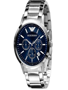 Emporio Armani Men's Classic Stainless Steel Blue Dial Dress Watch AR2448