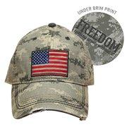 58cbb51ae1625 Farm Boy Brand Cap - Adult Men s Camo USA Flag Hat - Adjustable Velcro Strap