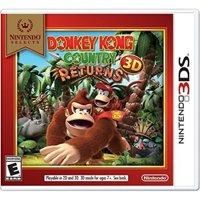 Donkey Kong Country Returns 3D (Nintendo Selects), Nintendo, Nintendo 3DS, 045496743802