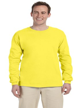 Branded Fruit of the Loom Adult 5 oz HD Cotton Long Sleeve T-Shirt - YELLOW - L (Instant Saving 5% & more)