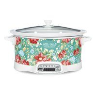 Pioneer Woman 7 Quart Programmable Slow Cooker Vintage Floral | Model# 33479 by Hamilton Beach