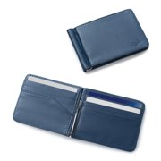814cba2b008e Zodaca Mens Stylish Thin Leather Wallet Bifold Slim ID Credit Card Holder  with Removable Money Clip