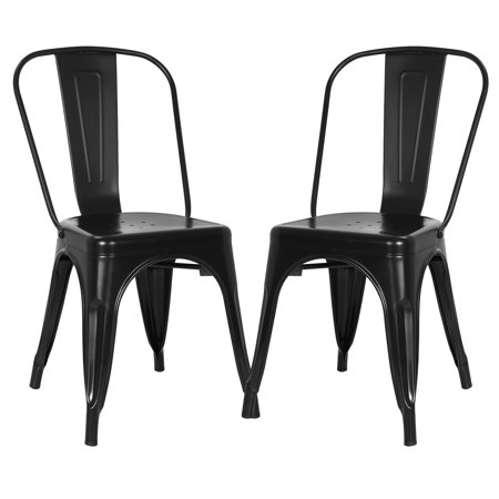 - Poly and Bark Trattoria Side Chair in Black (Set of 2)