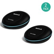 Fast Charge Wireless Charger, Nekteck Wireless Charging Pad for Samsung Galaxy S8, S8 Plus/ S7/ S7 Edge/ S6 Edge Plus Note 5 and All Qi-Enabled Devices - Black (2 Pack, Adaptive NOT Included)