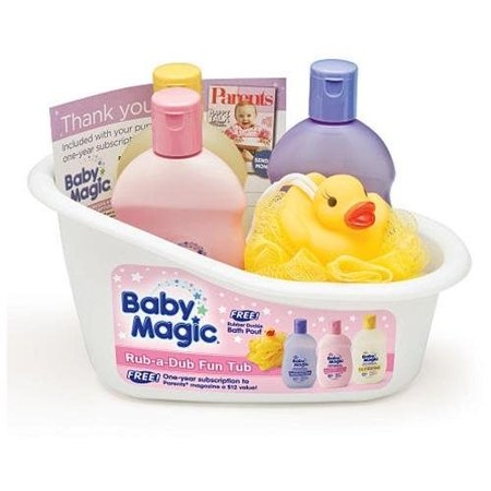 Baby Magic Rub-A-Dub Fun Tub Kit- Original Lotion, Calming Bath, Powder Scent Hair & Body Wash, Duck - Soap Scents Scented Lotions