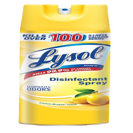 Lysol Disinfectant Spray, Lemon Breeze, 19oz