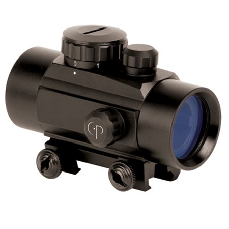 CenterPoint Optics 1x30mm Enclosed Reflex Sight Red and Green Dot Sight, 72601 - Glock Green Front Sight