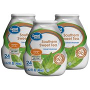 (10 Pack) Great Value Drink Mix, Southern Sweet Tea, 1.62 Fl Oz, 1 Count