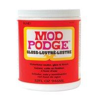 Mod Podge Fast Dry Tissue Glue and Glaze, 1 Quart Jar, Gloss