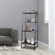 "4 Tier Metal Leaning Ladder Storage Rack Shelf Bookshelf Bookcase Corner Display 23-3/5"" x 14"" x 58"""