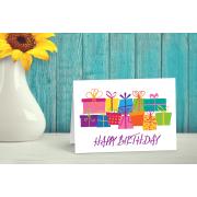 Presents Happy Birthday Card
