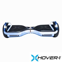 Hover-1 Chrome UL Certified Electric Hoverboard w/ 6.5 Wheels, LED Lights, and Bluetooth Speaker - Blue