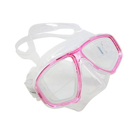 Scuba Pink Dive Mask FARSIGHTED Prescription RX 1/3 Optical Lenses (+1.0)