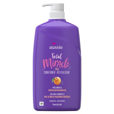 For Damage - Aussie Paraben-Free Total Miracle Conditioner w/ Apricot, 26.2 fl oz