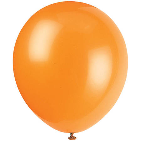 Latex Balloons, Orange, 12in, 10ct - Balon Nyc