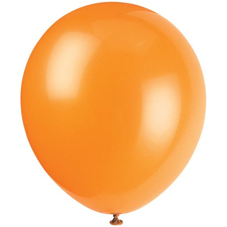 Latex Balloons, Orange, 12in, 10ct](Valentine's Day Balloons)