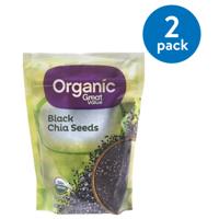 (2 Pack) Great Value Organic Black Chia Seeds, 12 oz