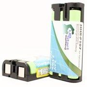 2x Pack - Panasonic HHR-P107 Battery - Replacement for Panasonic Cordless Phone Battery (700mAh, 3.6V, NI-MH)