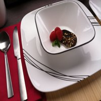 Corelle Square Simple Sketch 16-Piece Dinnerware Set
