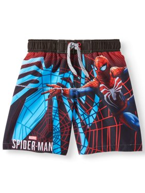 Spider Web Graphic Swim Trunk (Little Boys & Big Boys)