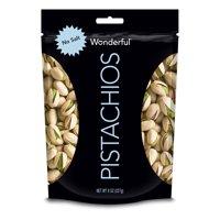 (4 Pack) Wonderful Pistachios, Roasted & No Salt, 8 Oz