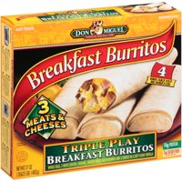 Don Miguel Breakfast Burritos Triple Play Burritos, 4 ct, 17 oz