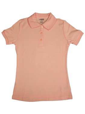 French Toast - Little Girls SS Interlock Fitted Knit Polo Picot Collar Pink / 10